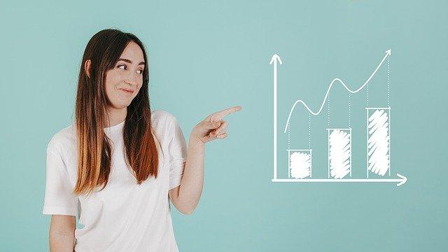 femme qui montre un graphique, analyse données hôtel